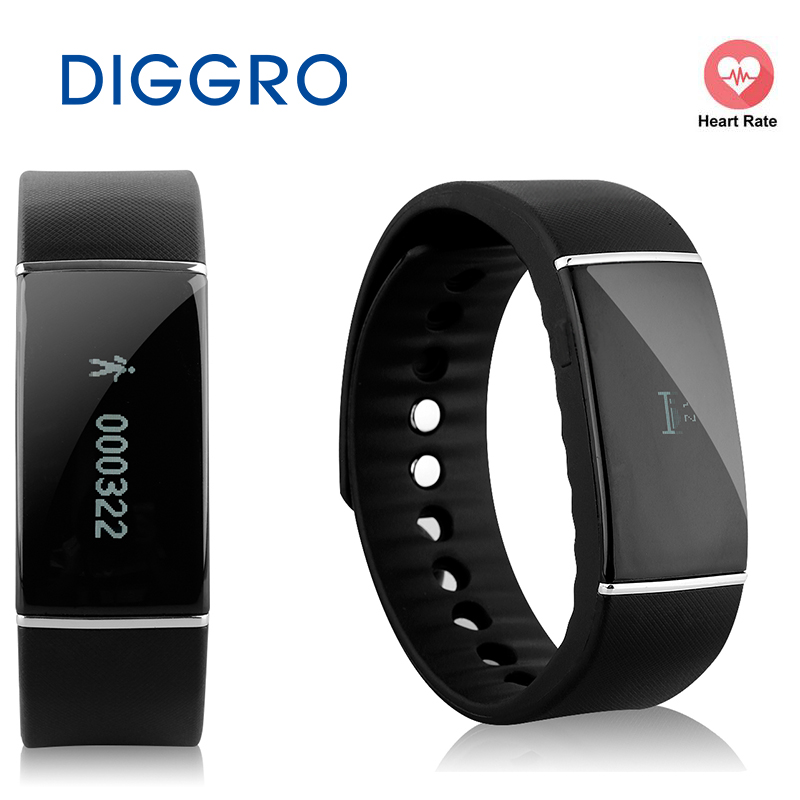 DIGGRO S55 Alarm Sleep Monitor Smart Bracelet Pedometer Tracker Calorie Health Wristband Call Reminder For Androis