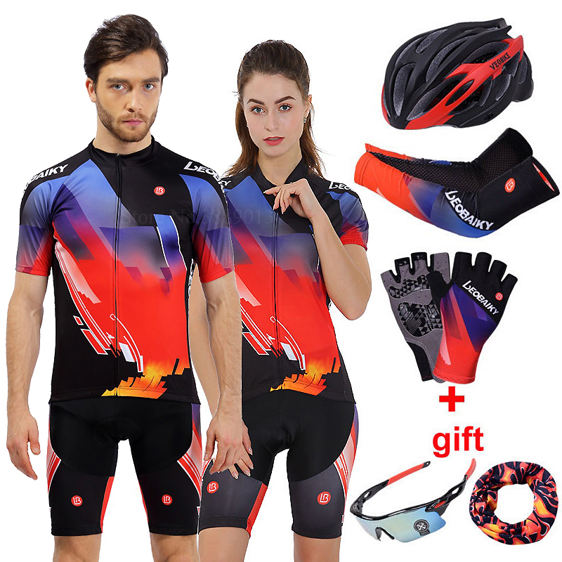 Bicycle Jersey MTB Cycling Set Men Summer Pro Team 2018 Road Bike Clothing Short Sleeves Outdoor Sport Wear Women Clothes Suits