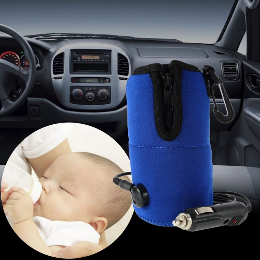 Portable 12V DC Car Baby Bottle Warmer Heater Cover Food Milk Travel Cup Covers Sterilizing Pot With Car Cigarette Lighter Cable