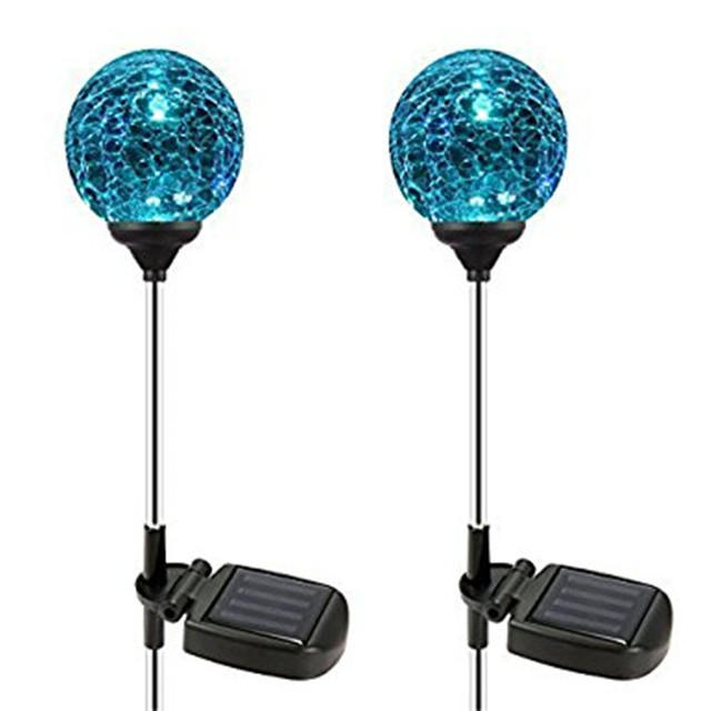 2pcsbox solar garden stake lights outdoor lighting cracked crystal 2pcsbox solar garden stake lights outdoor lighting cracked crystal glass globe color changing led workwithnaturefo