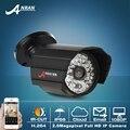 2.0 Megapíxeles 1080 P Full HD 25fps Onvif H.264 48IR Infrarrojos D/N Sensor CMOS Cámara de Red IP Al Aire Libre