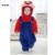 Crianças Traje de Inverno Flanela Bebê Super Mary Traje Dos Desenhos Animados Para 0-3 Do Bebê Das Meninas Dos Meninos Com Capuz Rompers Macacões Inverno Outwear