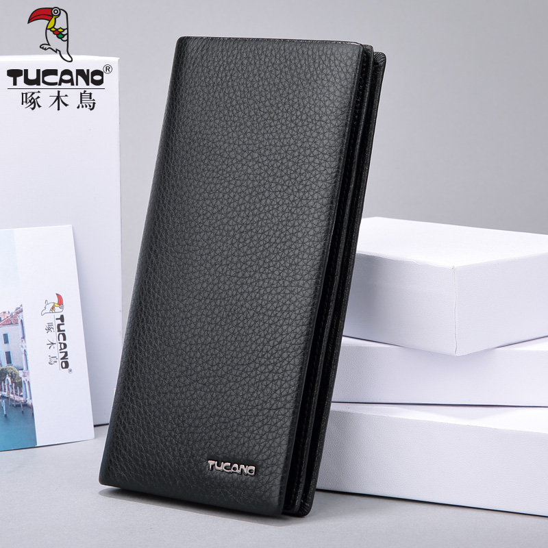 TUCANO luxury brand men wallets long genuine leather slim bifold wallet male card holder purse jmd genuine leather men wallet brand luxury super thin leather wallets office male short mature man bifold wallet small purse