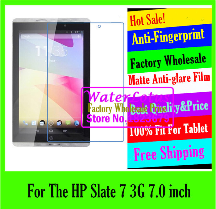 For The HP Slate 7 3G pad Tablet LCD film projector Matte Anti-glare screen protector de pantalla protective film plate pelicula