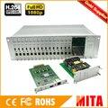 Горячая H.264 MPEG-4 AVC 16 каналов 3U hdmi кодер аппаратное сравнение для прямой трансляции