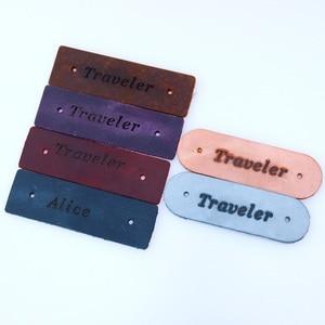 Image 4 - Carnet de voyage, agenda de voyage, planificateur de voyage, cuir véritable, gravure gratuite, 100%, cuir de vache, cadeau personnalisé, bricolage