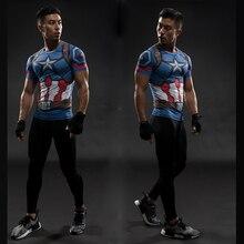 Camisetas con estampado 3D de Capitán América marca de moda TUNSECHY hombres Marvel vengadores iron man Fitness Ropa Camisetas para hombre