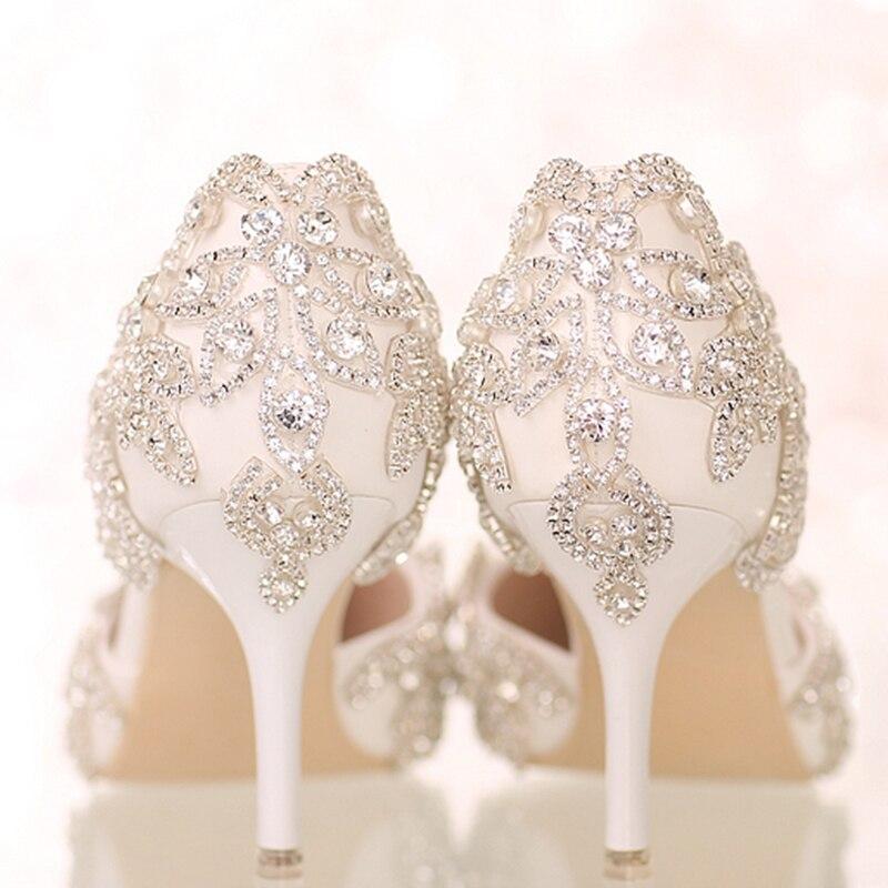 97f8e37ef Colorido strass Flor Plataforma Saltos Altos ou baixos saltos mulheres  bombas festa de Casamento Sapatos de Noiva Sapatos de strass sexy em Bombas  das ...