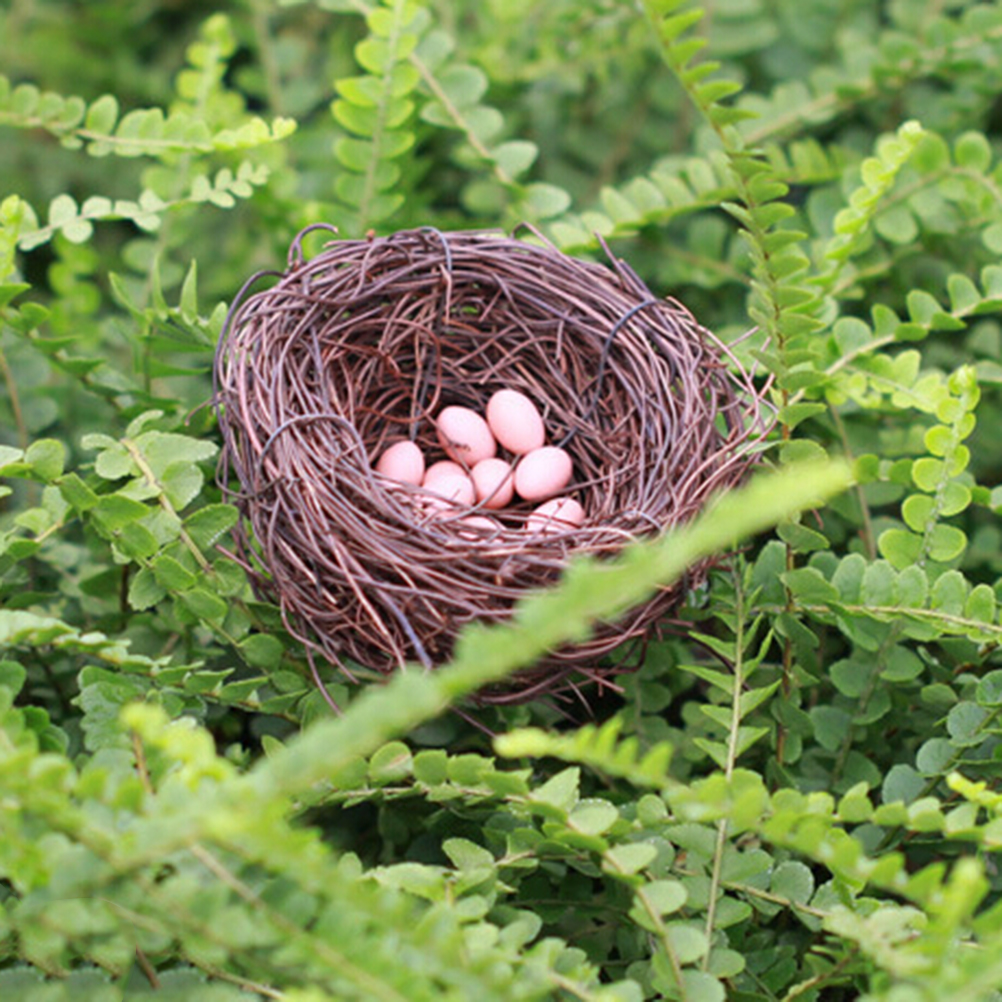 Dollhouse Miniature 3D Cute Nest+Eggs Set Resin Model