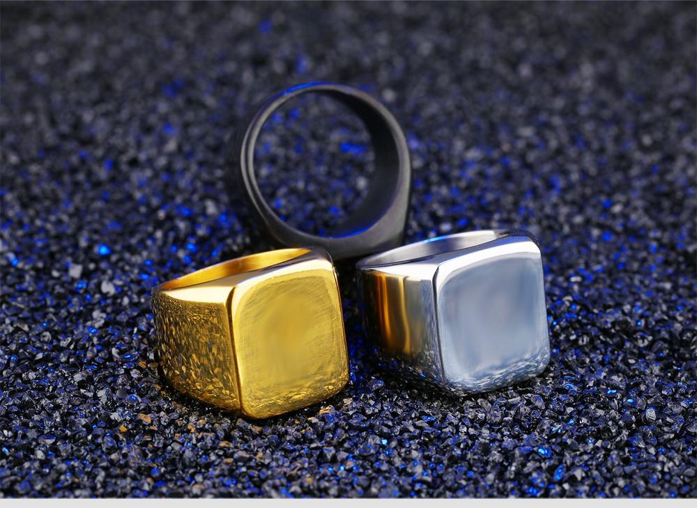 HTB1FFlPadzvK1RkSnfoq6zMwVXa8 - ZooMango Free Engraving Stainless Steel Men's Big Ring Wedding Anniversary White/Black/Gold Color Wide Ring Jewelry
