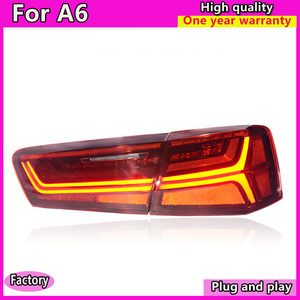 Image 2 - car styling For Audi A6 taillights 2012 2016 for A6 rear lights LED DRL + dynamic turn +brake+Rever+Rear fog taillight assembly