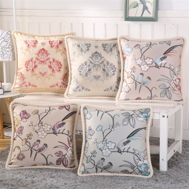 2017 Europe Luxury Cushions Covers Home Decor Square Embroidered Sofa  Cushion Cover 45*45cm