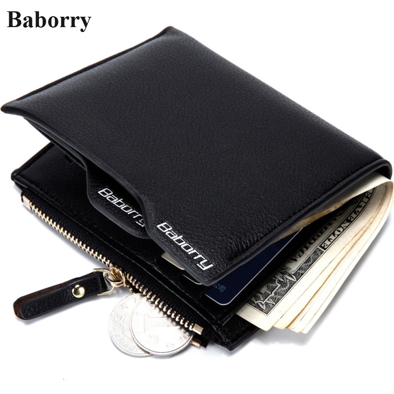 Baborry RFID Leather Wallets Men Wallets 2017 Brand Designer Black Short Coin Purses Male Money Bags With Credit Card Holders 2015 new male baridian us 100 dollar bill fake money short purses billeteras hombre women s wallets classic flag designer