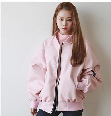 Pink Bomber Jackets Women Hip Hop Quilted Womens Bomber Jackets ...