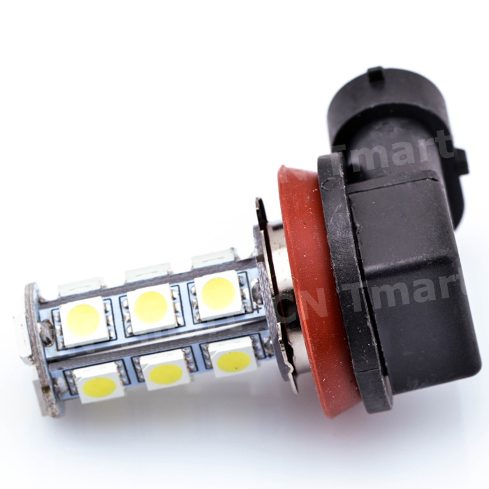 High Quality DC12V H11 H8 18 LED 5050 SMD Car Auto Day Driving Fog Lights Headlighit Lamp Bulb White 1pcs h7 5050 18 smd 12v led whitecar auto fog driving day time head light lamp bulbs high brightness car accessories universal