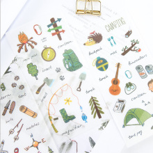 6pcs/lot Camping equipment children Paper diy Decorative Sticker Diary Album Label Scrapbooking Stationery
