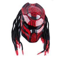 Анфас углеродного волокна мотоциклетный шлем Железный Воин крови демона ночь мотоцикл шлем личности Harley кос езда шлем