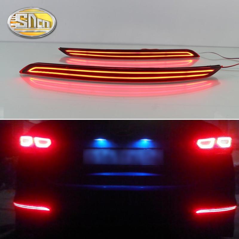 2PCS For Hyundai Elantra 2016 2017 2018 SNCN Multi functions Car LED Rear Fog Lamp Bumper