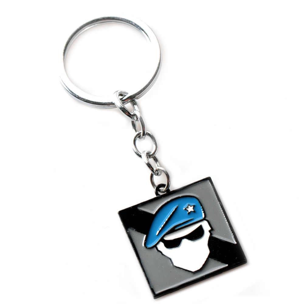 Game Rainbow Six Logo Keyring ALIBI MAESTRO LION FINKA Keychain Nice  Souvenir Keyring Jewelry For Fans Charm Gift drop-shipping