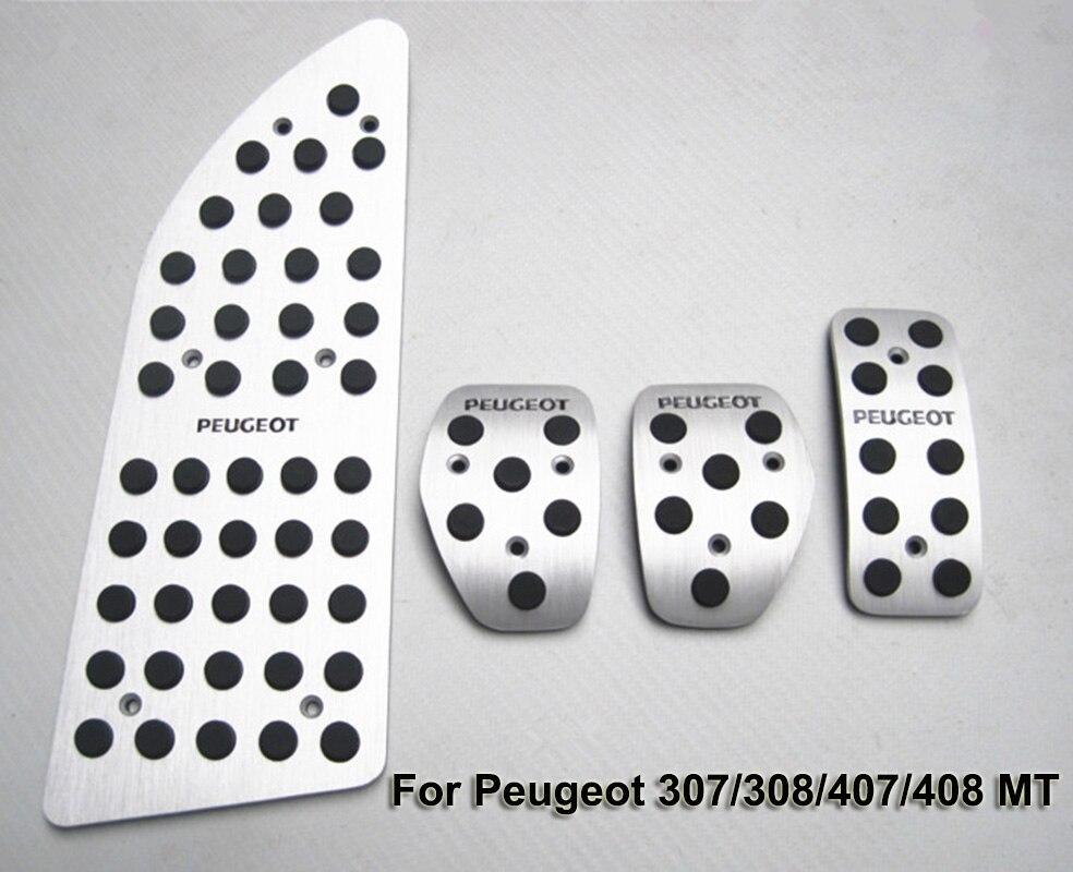 Nouvelle pédale automatique de qualité pour Peugeot 307/308/407/408 MT transmission manuelle conduite à gauche voiture en alliage d'aluminium partie de pédale