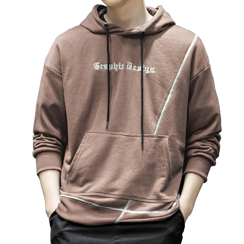 Men 'S Hoodie Casual Stylish Patchwork Hoodie Autumn New Men's Long-Sleeve Korean-Style Hooded Fashion Sweatshirt Youth Popular(China)