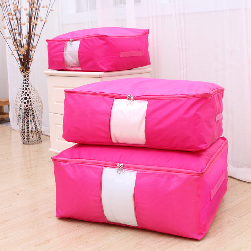 With 2 Handles Promotional Oxford New 9Colors Home Organization Home Supplies Popular Solid Folding Storage Bags 1PC