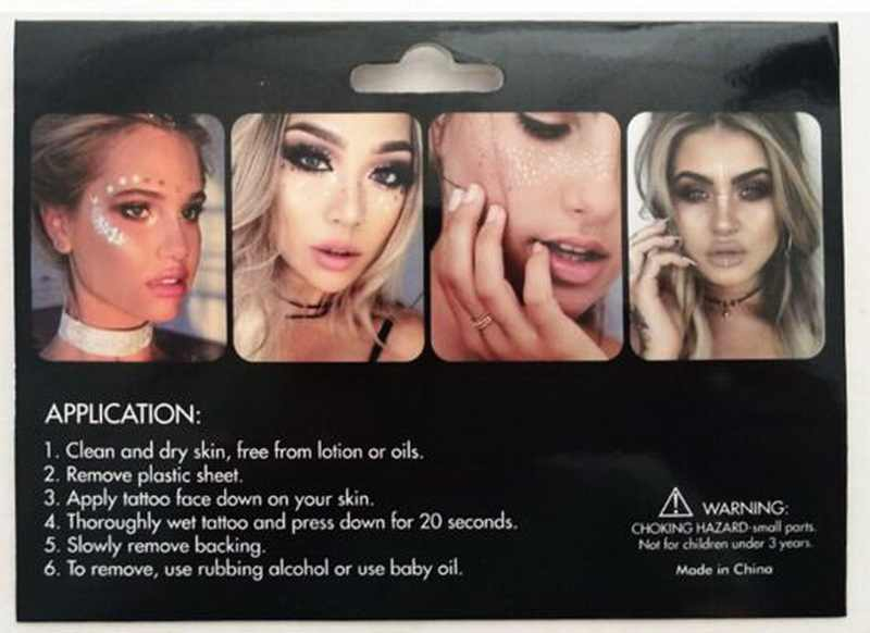a3e18fa850e1a ... Freck Flash tattoo Personality Fashion Disposable Waterproof Bronzing Freckles  Gold Face Tattoo Beauty Make Up Body ...