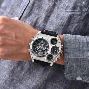 Image 2 - Oulm 1349 New Sport Watches Men Super Big Large Dial Male Quartz Clock Decorative Compass Luxury Mens Wrist Watch