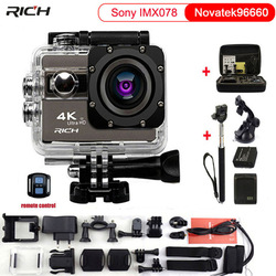 RICH Action Camera F68 F68R 4K Novatek 96660 Voice Features 170D Wide Angle 2 Inch HDMI Waterproof 30m Sport Camera