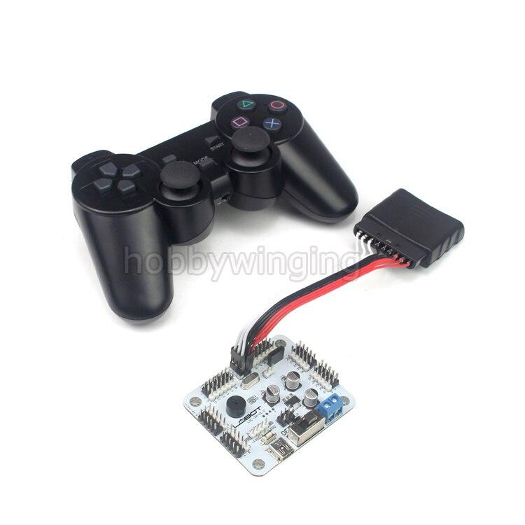 32 Channel Robot Servo Motor Control Board PS2 Controller Receiver for Hexapod manipulator Mechanical Arm Bipedal