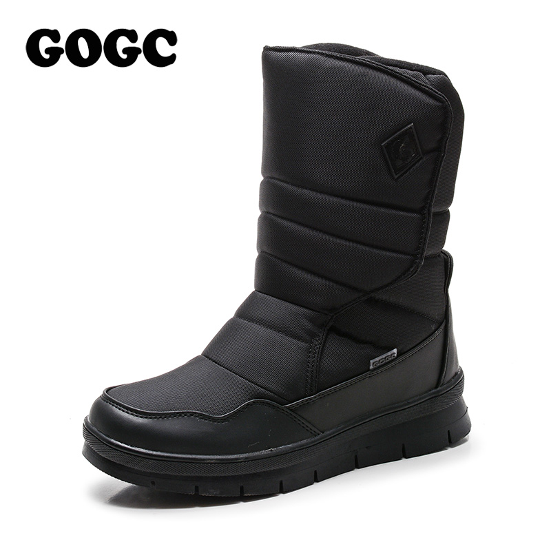 GOGC Homens Quentes Sapatos de Inverno Da Marca Não-deslizamento Sapatos de Inverno para Os Homens de Alta Qualidade Botas de Inverno Homens de Neve Quente sapatos botas Homens Plus Size