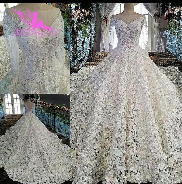 AIJINGYU robe de mariée musulmane mexicaine princesse courte bal blanc robes Sexy 2021 2020 robes de mariée et de mariée