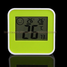 5PCS/Lot Smile Face Kitchen Living Room Bathroom Digital Thermometer Hygrometer with Magnet Indoor Temperature Humidity Meter
