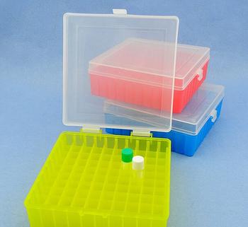 100 otwory laboratorium plastikowa rurka Box Rack zastosowanie do 2ml 1 5ml 1 8ml kriopreservation Tube z pokrywą połączenia 1 szt tanie i dobre opinie FAITHFUL Holes-100 Probówek Z tworzywa sztucznego