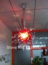 Half red half clear handmade blown glass chandelier lighting (BGC20101)