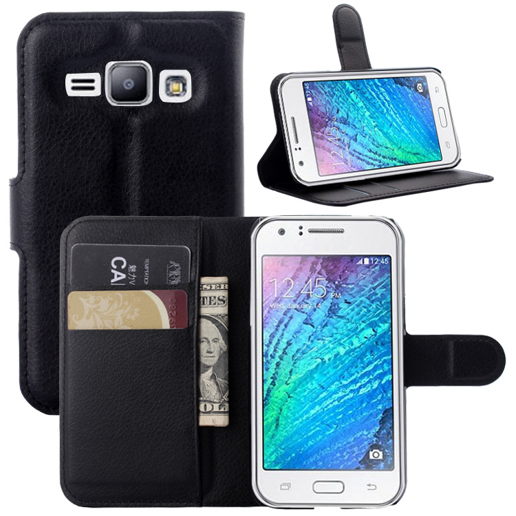 Wallet Flip Leather Case For Samsung GALAXY J1 Duos J100 J100F J100FN <font><b>J100H</b></font> Leather back Cover case with Stand Etui Coque funda> image