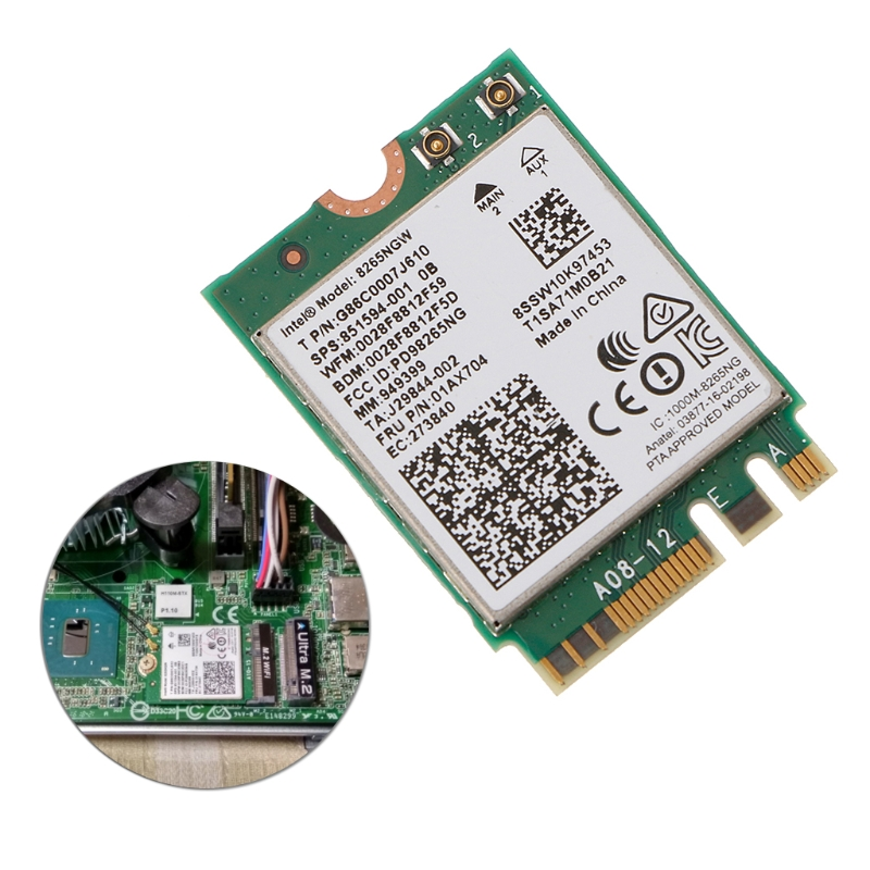 Wireless NGFF Wifi Card For Dual Band Intel 8265 AC AC8265 8265NGW M.2 2.4/5GHz(China)