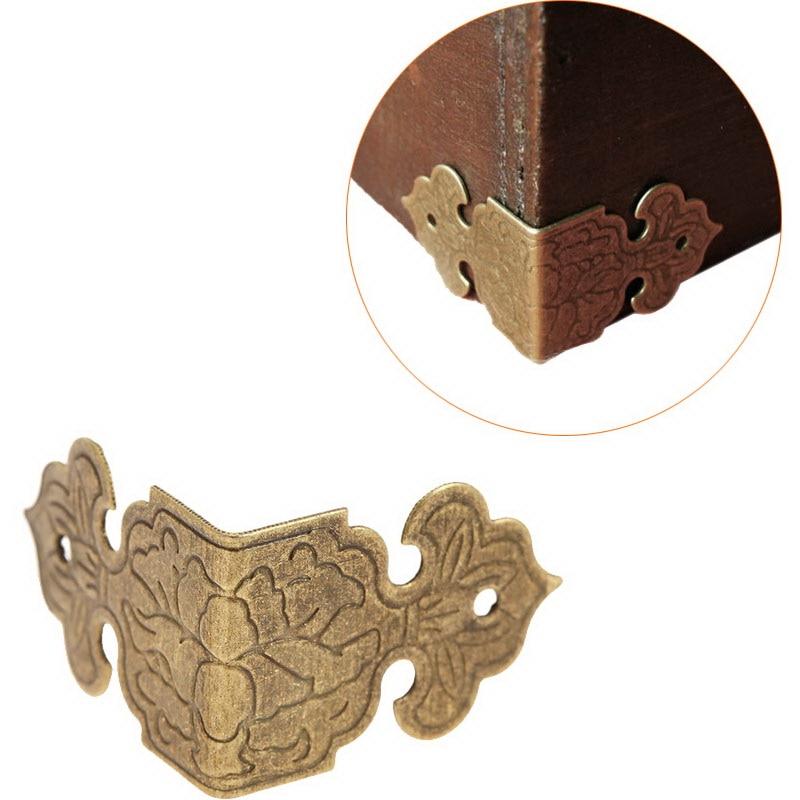 12pcs Decorative Corner Bracket for furniture Wooden Box Feet Furniture Corner Protector Decorative Corbel Furniture Fittings