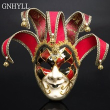 NEW Halloween Party Carnival Mask Masquerade Venice Mask Italy Venice Handmade Painting Party Face Mask Christmas Cosplay Mask