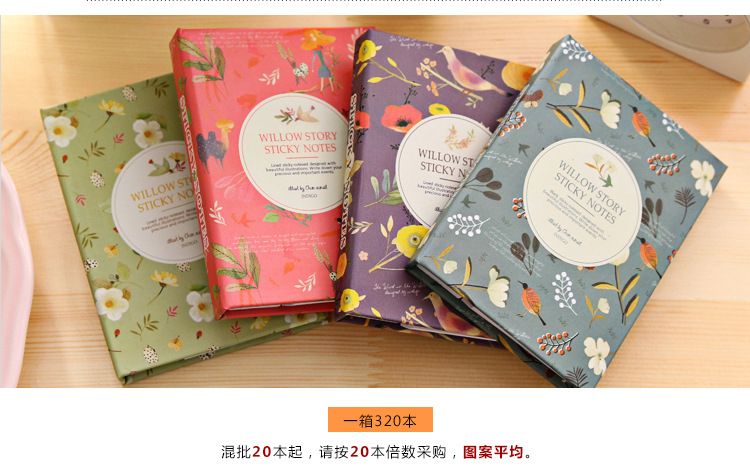 Kawaii birds flowers post it set with pen Memo Pad Sticky Notes N Times Stickers Memo Flags Index Pad office school papelaria