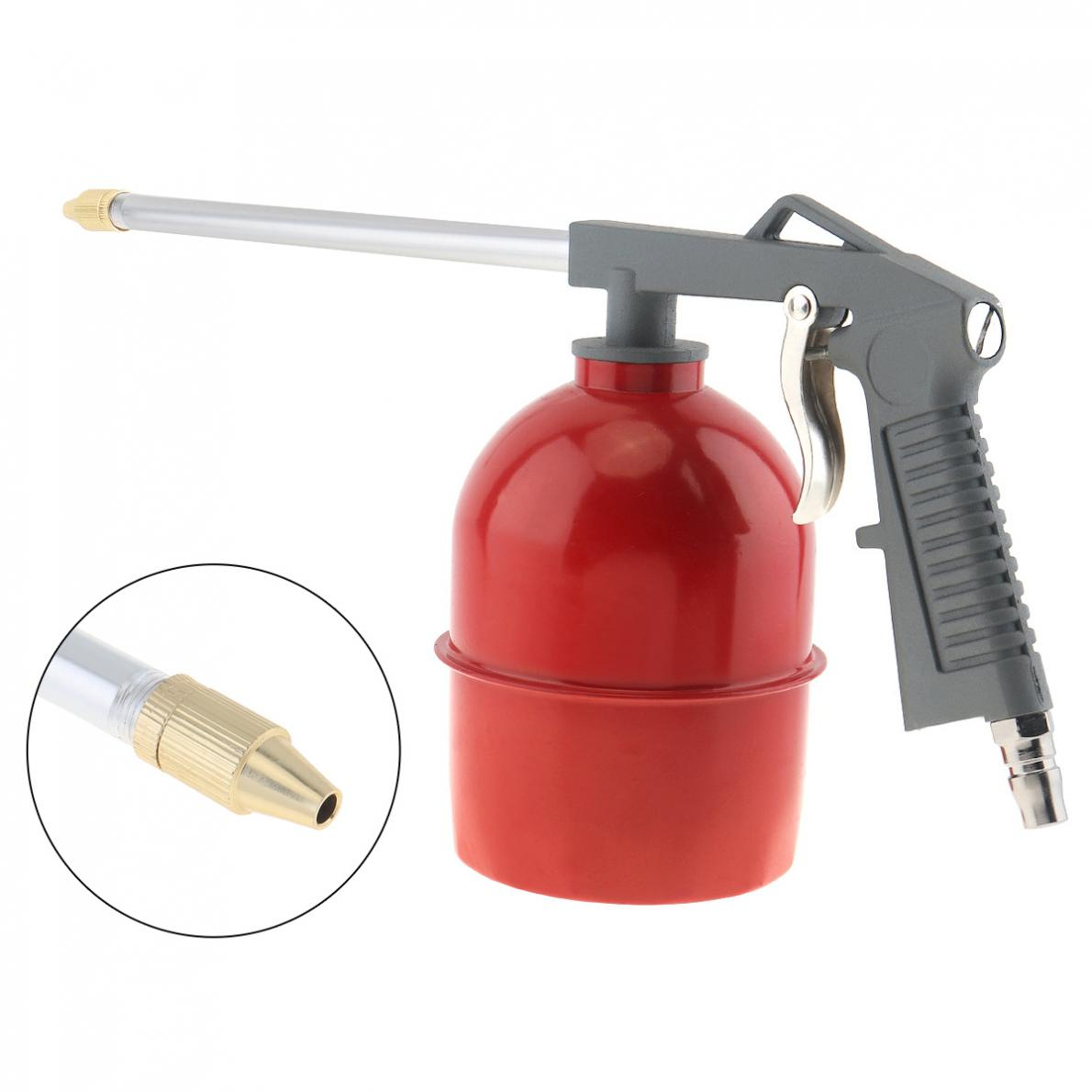 Easy To Operate Red Pot Type Pneumatic Spray Gun With 6mm Nozzle Caliber And Aluminum Pot For Furniture / Factory Facilities