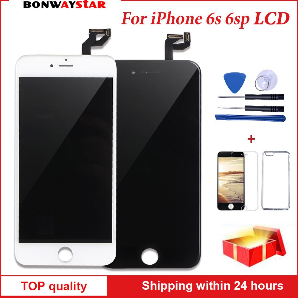 AAA+++ Quality LCD Screen For iPhone 6s plus 6sp Display Assembly Replacement 3D Touch Screen with Original Digitizer free shipAAA+++ Quality LCD Screen For iPhone 6s plus 6sp Display Assembly Replacement 3D Touch Screen with Original Digitizer free ship