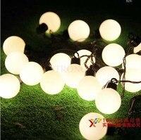 5 m 20 Ballen LED Light String Zwarte Draad LED Fairy Lights KERST Bruiloft Decoratie Lampen Guirlande Lumineuse Exterieur