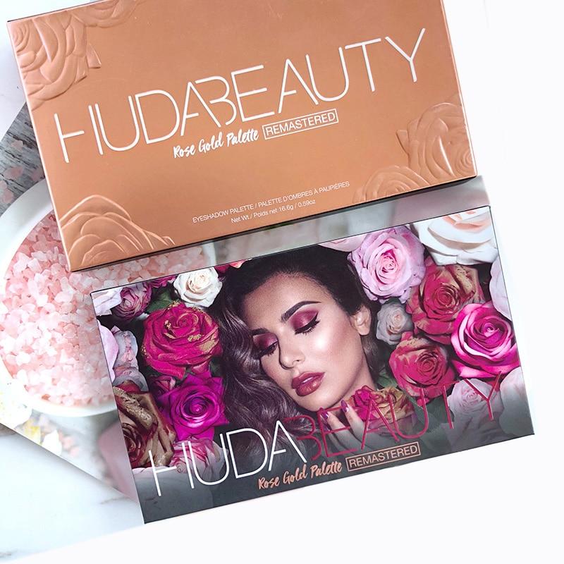 Palette Hudas Beauty Eyeshadow Palette Rose Gold Edition Makeup 18 Colors Hudas Eye Shadow Palett Hudass Beauty Eyeshadow