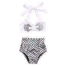 Baby Girl Princess White Mermaid Bikini