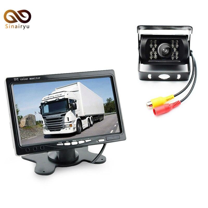 DC 24V Bus Truck Parking Camera Monitor Assistance System, 7 Car Monitor With Rear View Camera 10M RCA Video Cable loreal professionnel шампунь для очень поврежденных волос абсолют репэр липидиум 1500мл