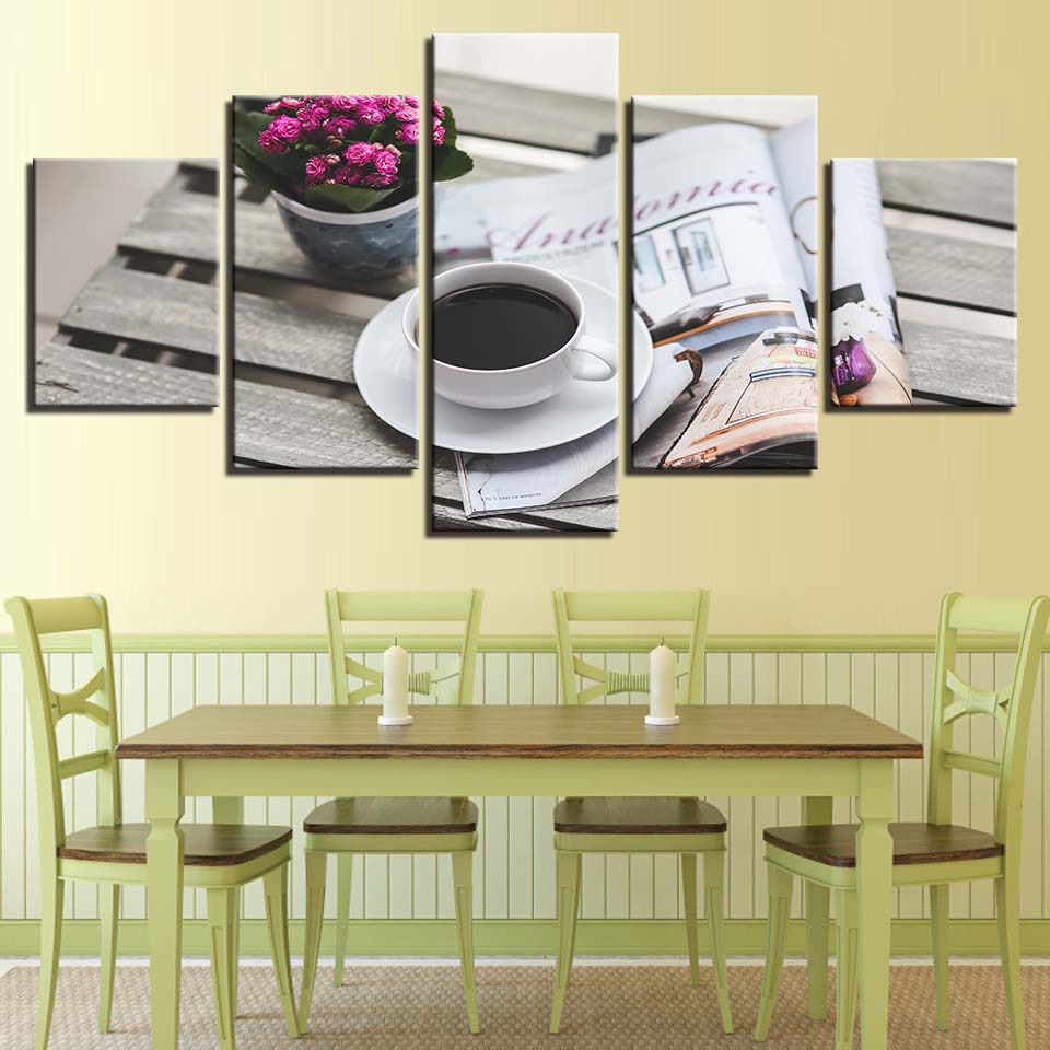 Abstract Flowers Canvas Prints Framed Home Restaurant Decor Wall Art Painting
