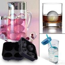 Форма под лед, шарики для мороженого, изготовление пресс-форм, виски, сфера, большой круглый шар, кубическая форма для льда, поднос, форма для льда, панель лотка