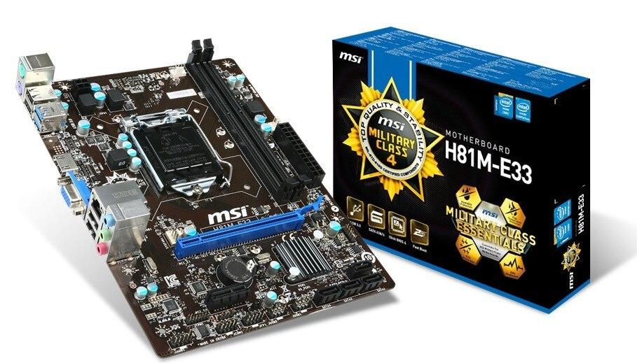 MSI H81M-E33 LGA1150 architecture HDMI / VGA genuine new original inotec e33