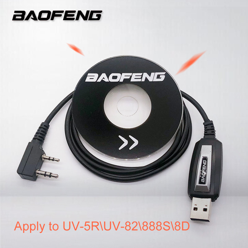 Authentic Genuine Baofeng USB Programming Cable With Driver CD For BaoFeng UV-5R BF-888S UV-82 BF-8D Walkie Talkie